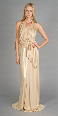 Gold Celebrity Inspired Gowns by Faviana Couture