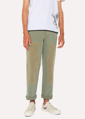 Paul Smith Men's Washed Khaki Red Ear Carpenter Pants