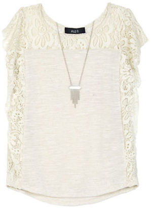 Ally B Girls 7-16 Lace Roundneck Top $38 thestylecure.com