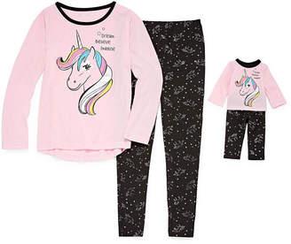 Asstd National Brand Doll Gown & 2pc.Pant Pajama Set - Girls
