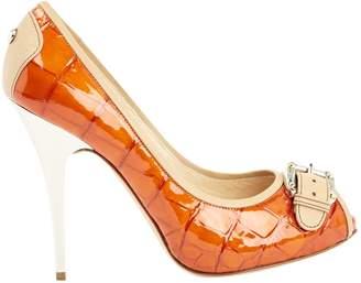 Giuseppe Zanotti Orange Patent leather High Heel