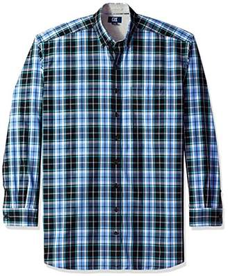 Cutter & Buck Men's Large Plaid and Check Easy Care Button Down Collared Shirts