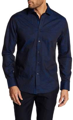 Vince Camuto Jacquard Spread Collar Shirt