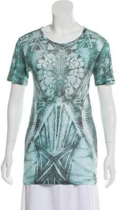 Balmain Printed Short Sleeve Top