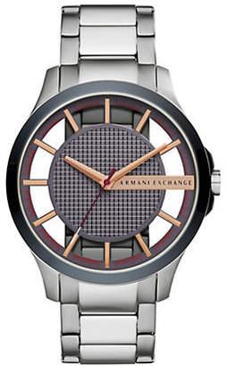 Armani Exchange Hampton Stainless Steel Bracelet Watch