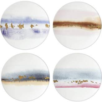 Lenox Watercolor Horizons Microwave Safe 4-Pc. Assorted Tidbit Plate Set