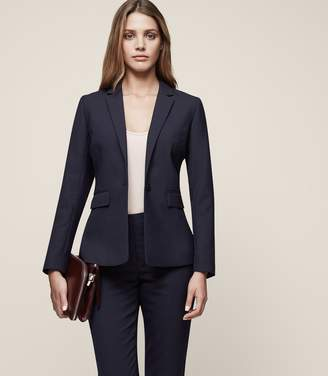 Reiss Faulkner Jacket - Single-breasted Blazer in Navy
