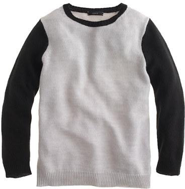 J.Crew Colorblock crewneck sweater