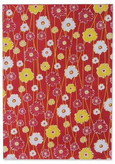 Blossoming Garden Saa wrapping paper (Set of 4)