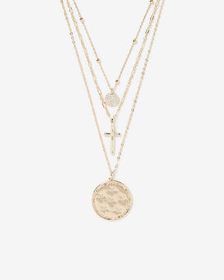 Express Nested 3 Layer Charm Necklace