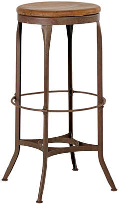 Rejuvenation Tall Toledo Factory Stool w/ Oak Seat