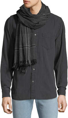 Co Begg & Men's Pin Check Cashmere Scarf