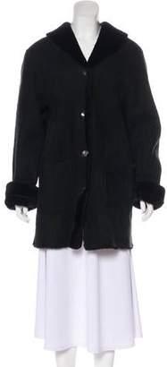 Barneys New York Barney's New York Sheepskin Knee-Length Coat