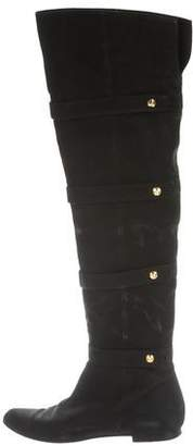 Fendi Embellished Over-The-Knee Boots