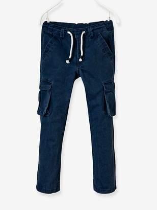Vertbaudet Boys' Straight Cut Battle Dress Trousers