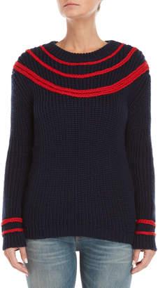 Le Mont St Michel Contrast Stripe Sweater