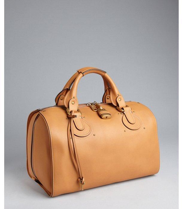 Chloé tan leather 'Aurore' bowling bag