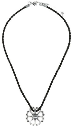 Elyse Ryan Sterling Heart Motif Pendant Cord Necklace