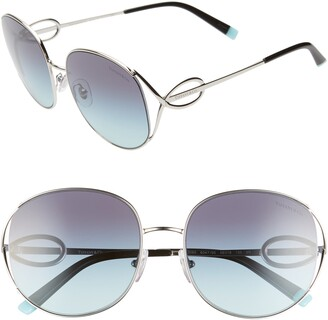 Tiffany & Co. 56mm Gradient Round Sunglasses