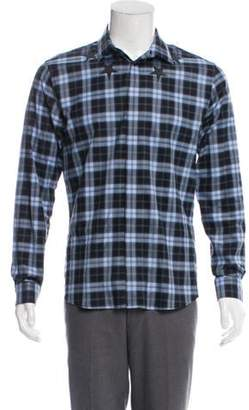 Givenchy Star Graphic Plaid Shirt blue Star Graphic Plaid Shirt