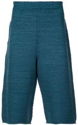 Issey Miyake Homme Plissé knitted knee-length shorts