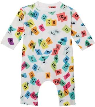 Burberry printed onesie
