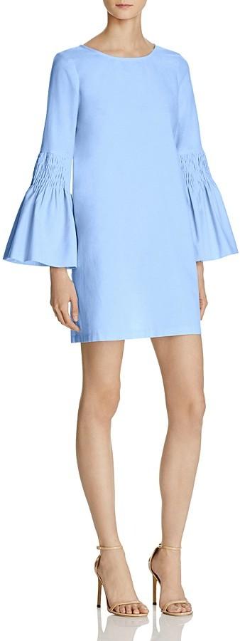 AQUA Smocked Bell Sleeve Shift Dress - 100% Exclusive