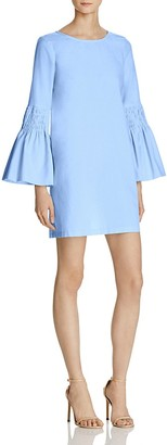 AQUA Smocked Bell Sleeve Shift Dress - 100% Exclusive $78 thestylecure.com