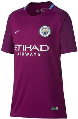 Nike Junior Manchester City Short Sleeved 2017/18 Away Shirt