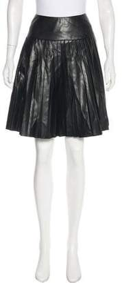 Saks Fifth Avenue Faux Leather Knee-Length Skirt