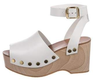 Celine Leather Platform Wedges w/ Tags