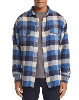 IRO Storytone Oversized-Buffalo Plaid Flannel Shirt Jacket