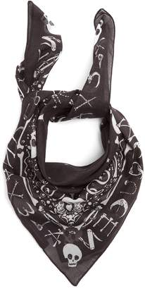 Alexander McQueen Star and skull-print bandana cotton scarf