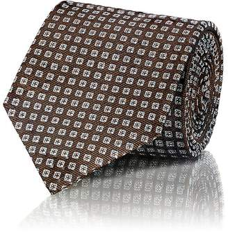 Isaia MEN'S SQUARE-DOT SILK JACQUARD NECKTIE