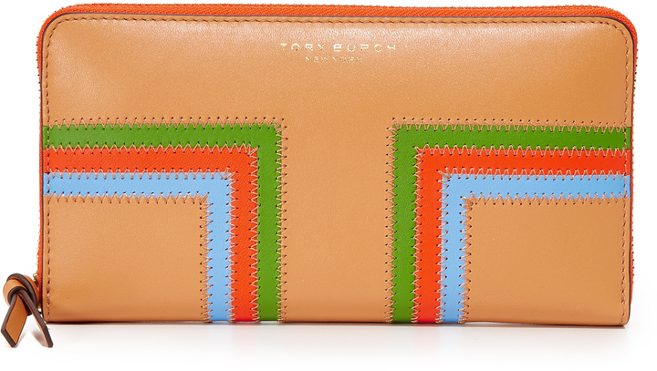 Tory Burch Tory Burch Block T Stripe Continental Wallet