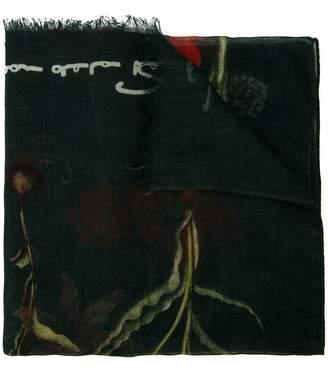Oscar de la Renta flower harvest printed scarf