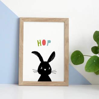 YOYO Studio Rabbit Print, New Baby Boy Or Girl Gift