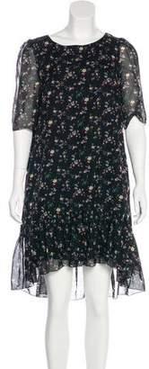 Saint Laurent Floral Silk Dress