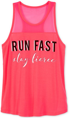 Ideology Run Fast, Stay Fierce Graphic-Print Tank Top, Big Girls (7-16), Only at Macy's $19.50 thestylecure.com