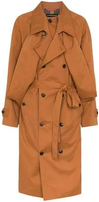 Y/Project Y / Project oversized cotton blend trench coat
