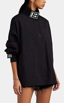 Off-White Women's Logo Tech-Faille Funnel Neck Track Jacket - Black
