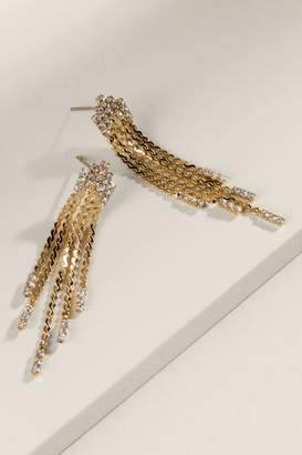 francesca's Camille Liquid Metal Linear Drop - Gold