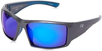 Gone Fishing MAHI Polarized Sunglasses - Anti-Glare - Float in Water - Sapphire Blue Mirror Lenses
