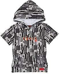 Haus of JR Infants' Cityscape Short-Sleeve Hoodie - Black