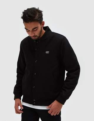 Obey Soto Varsity Jacket in Black