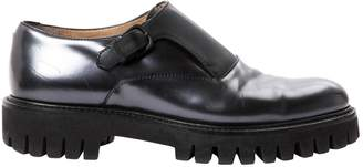 Alberto Guardiani Anthracite Leather Lace ups