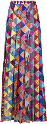 Mary Katrantzou printed pleated maxi skirt