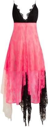 Christopher Kane Colour-block lace cami dress