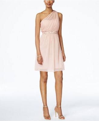 Adrianna Papell One-Shoulder Embellished Dress $169 thestylecure.com