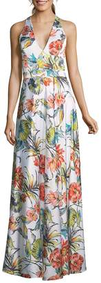 Nicole Miller New York Women's Sleeveless Floral Gown